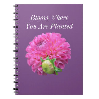 Bloom Where You Are Planted Notebook