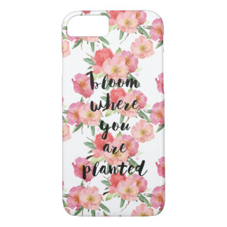 Bloom Where You Are Planted Watercolor Floral iPhone 8/7 Case