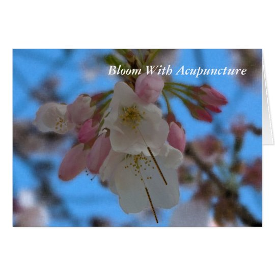 Bloom With Acupuncture 2 Notecard