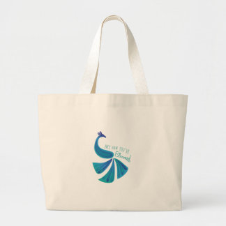 Bloomed Peacock Canvas Bags