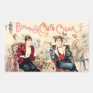 Bloomer Cigar Club Rectangular Sticker