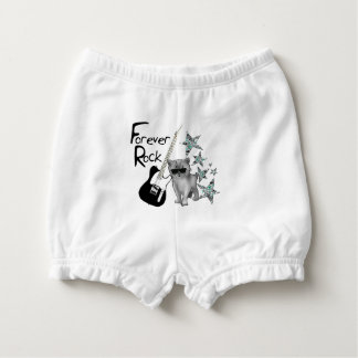 "Bloomer ""Forever rock'n'roll"", cat, guitar, stars Nappy Cover"