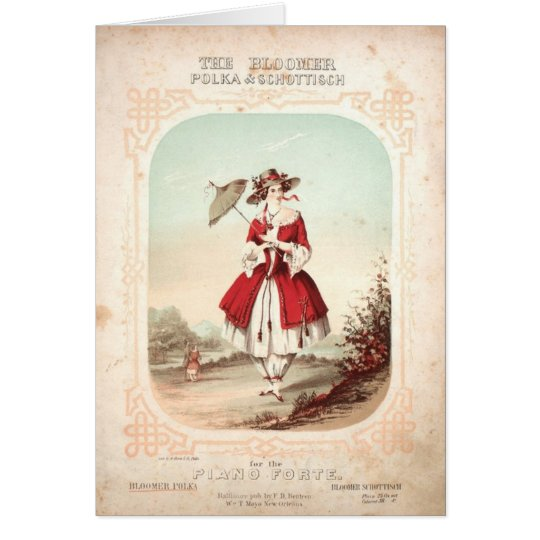 Bloomer Polka Card