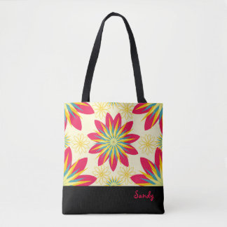 Bloomin' Good Start Floral Modern Personalised Tote Bag