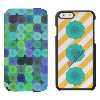 Bloomin' Stripes Name teal yellow Incipio Watson Incipio Watson™ iPhone 6 Wallet Case