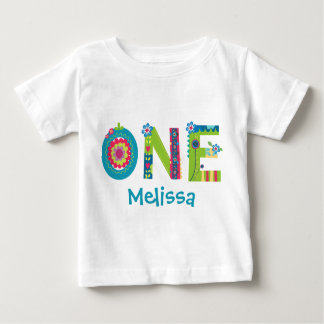 Blooming 1st Birthday Baby T-Shirt