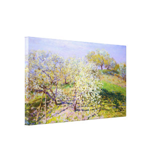 Blooming Apple Trees, Claude Monet Gallery Wrapped Canvas