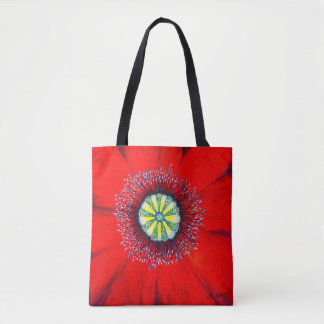 Blooming Art - Optimistic Poopy, by CraftiesPot Tote Bag