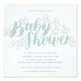 Blooming Baby Shower Invitation