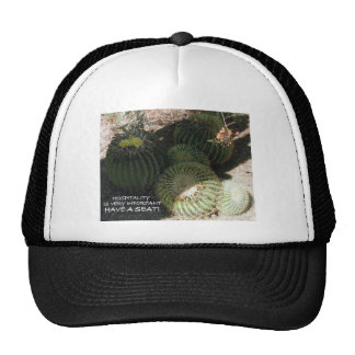 BLOOMING BARREL CACTI AND ASSORTED PHRASES HAT