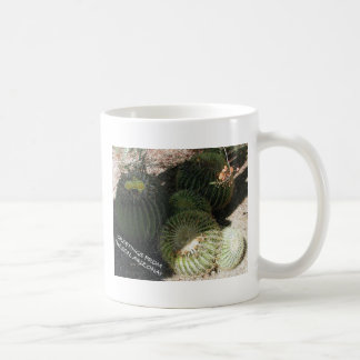 BLOOMING BARREL CACTI AND ASSORTED PHRASES COFFEE MUGS