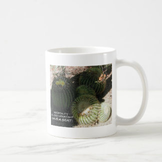BLOOMING BARREL CACTI AND ASSORTED PHRASES MUG