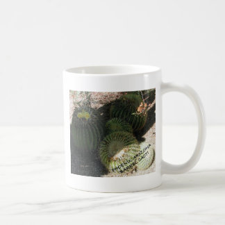 BLOOMING BARREL CACTI AND ASSORTED PHRASES MUGS
