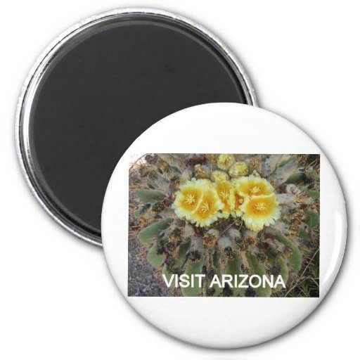 BLOOMING BARREL CACTI AND PHRASES FRIDGE MAGNET