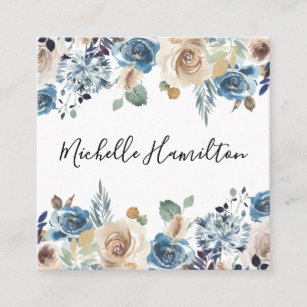 Antique floral business cards zazzle uk blooming beauty square business card reheart Gallery