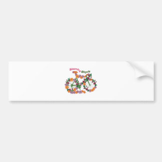 Blooming Bicycle Bumper Sticker