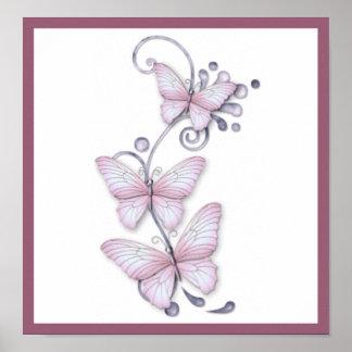 Blooming Butterflies Print