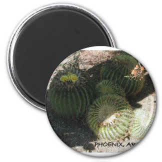 BLOOMING CACTI AND ASSORTED PHRASES 6 CM ROUND MAGNET