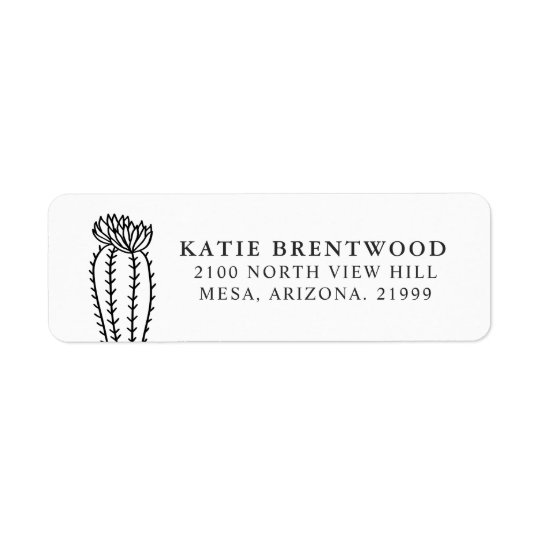 Blooming Cactus | Return Address Return Address Label