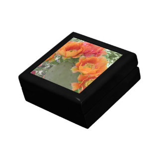 Blooming Cactus Small Square Gift Box