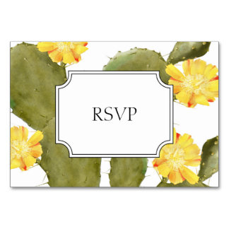 Blooming cactus wedding invitation rsvp card