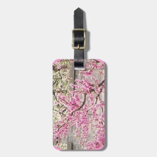 blooming cherry and apricot trees luggage tag