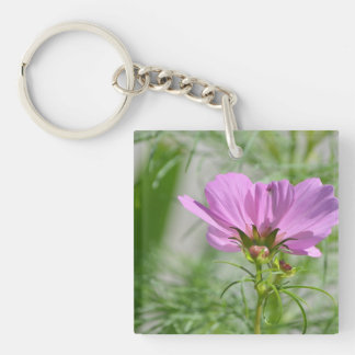 Blooming Cosmos Flowers Acrylic Key Chain