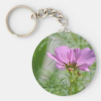 Blooming Cosmos Flowers Keychain