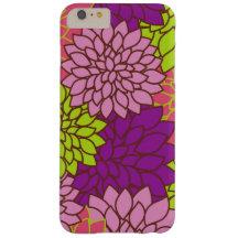 Blooming Dahlia Flowers - Pink Purple Green