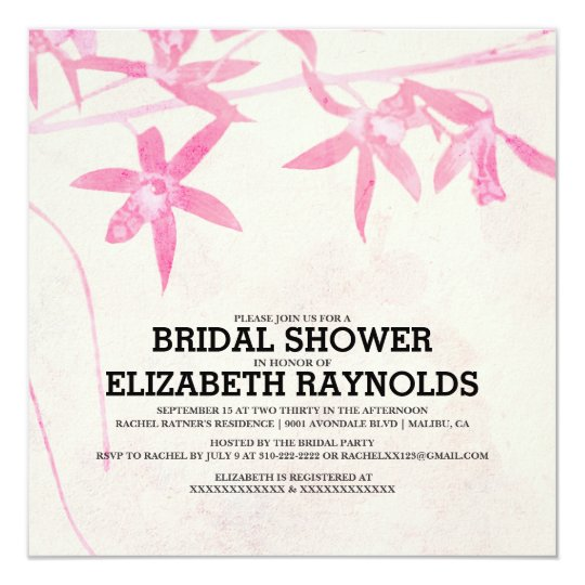 Blooming Flowers Bridal Shower Invitations