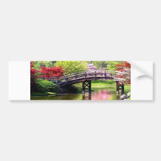 Blooming Flowers Bridge Bumper Sticker