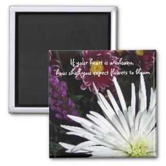 Blooming Flowers Square Magnet