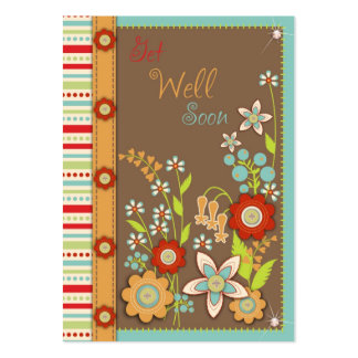 Blooming Get Well Soon Notecard Pack Of Chubby Business Cards