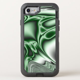 Blooming Green Fractal OtterBox Defender iPhone 8/7 Case