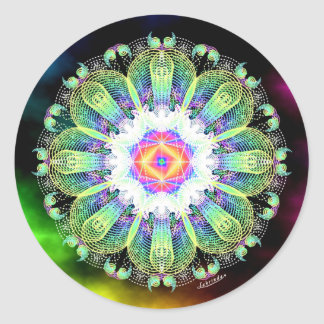 Blooming in the Light Classic Round Sticker
