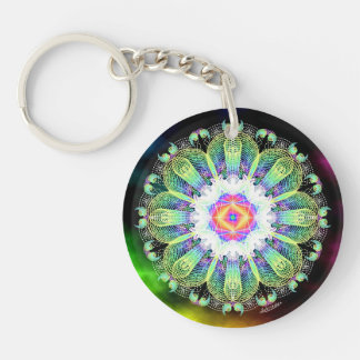 Blooming in the Light/Right Now Double-Sided Round Acrylic Key Ring