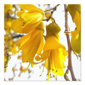 Blooming Kowhai Tree 13 Cm X 13 Cm Square Invitation Card