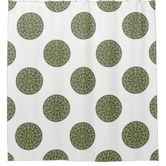 Blooming Mandala: Geometric Circle Shower Curtain