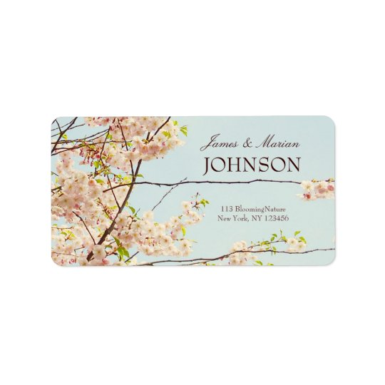 Blooming Nature Label