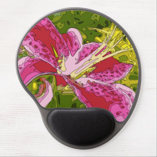 Blooming Pink Lily Flower Gel Mousepads