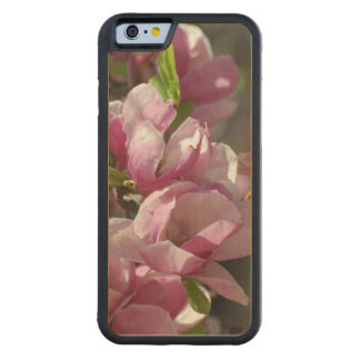 Blooming Pink Magnolia Carved Maple iPhone 6 Bumper Case