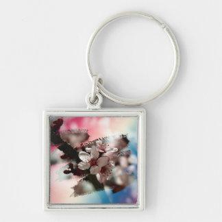 Blooming plum key ring