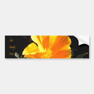 Blooming Poppy Bumper Sticker