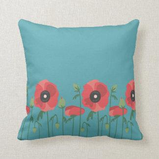 Blooming Poppy Field Cushion