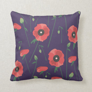 Blooming Poppy Field Cushion
