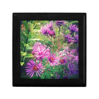 Blooming Purple Asters Keepsake Box