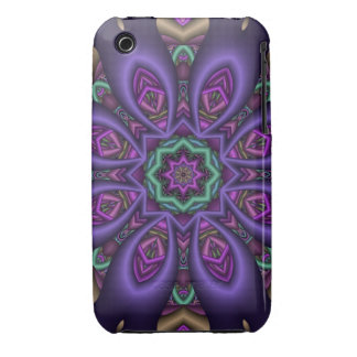 Blooming purple, decorative abstract iPhone 3 case