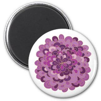 Blooming Purple Flower Magnet