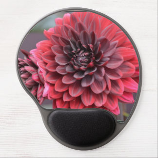 Blooming Red Dahlias Gel Mouse Mat