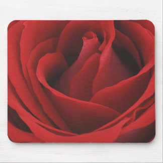 Blooming Red Rose Mouse Mat